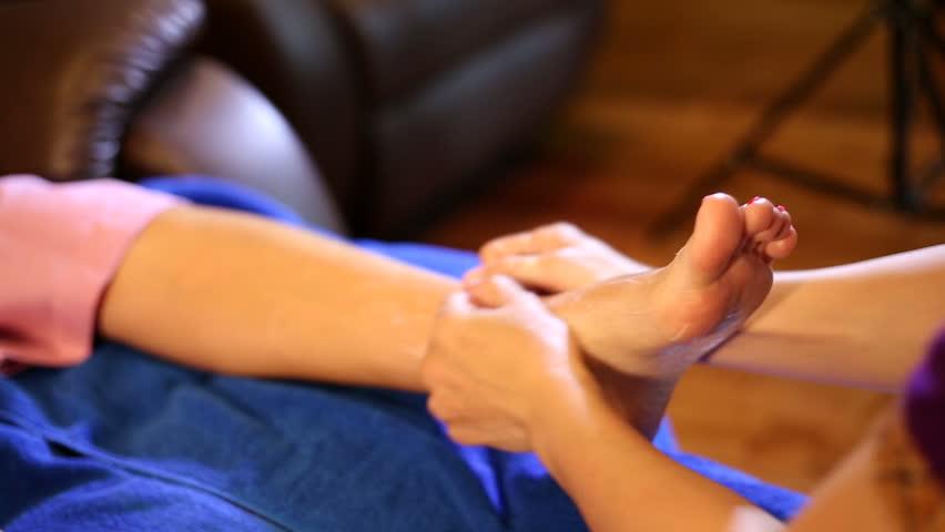 Foot massage    Shutterstock HD Video #9560066