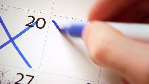 Calendar / Diary - Close Up - Crossing Off Days 02