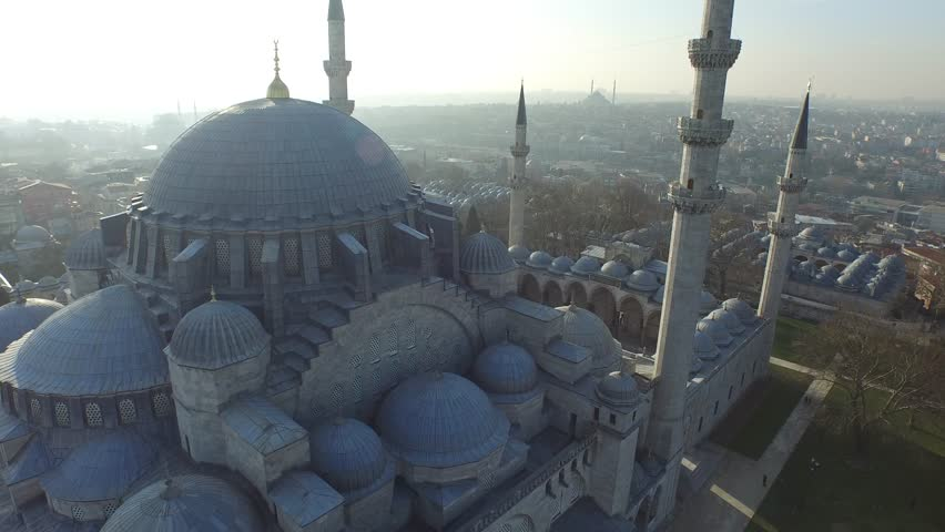 Suleymaniye Mosque From The Sky