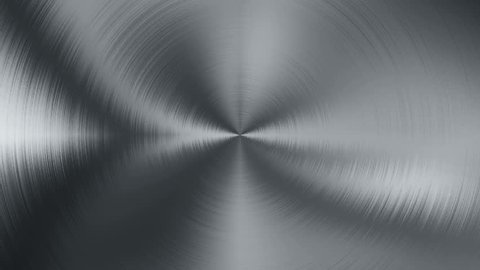 Animation rotation of bluish radial steel. Abstract background of anisotropic metal. Animation of seamless loop.