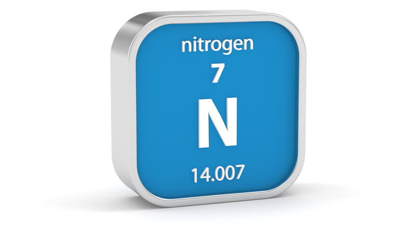 Nitrogen Material On The Periodic Table. Part Of A Series. Stock ...