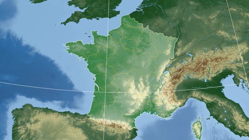 Midi-pyrenees Region Extruded On the Stock Footage Video (100 ...