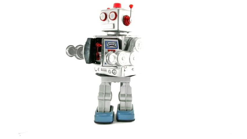 attack retro robot toy
