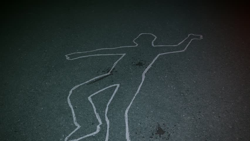 Thirty seconds loopable footage of a crime scene.