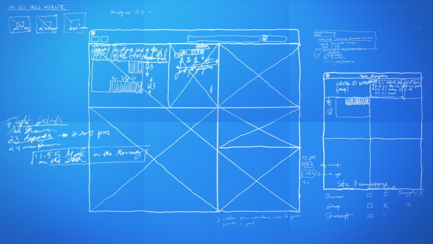 Graphic Design Layout Process Time Lapse Blueprint