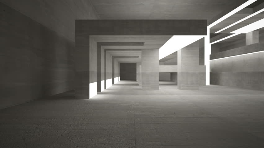 Empty Dark Abstract Concrete Room Stock Footage Video (100% Royalty-free)  9790826 | Shutterstock
