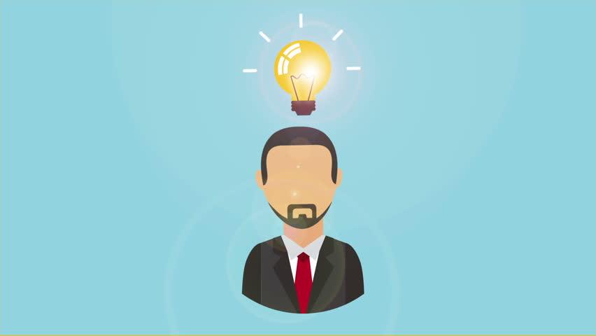 lightbulb people energy efficient concept stock footage