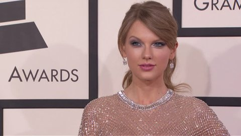 Los Angeles, CA - January 26,2014: Taylor Swift at Grammy Awards 2014, Staples Center