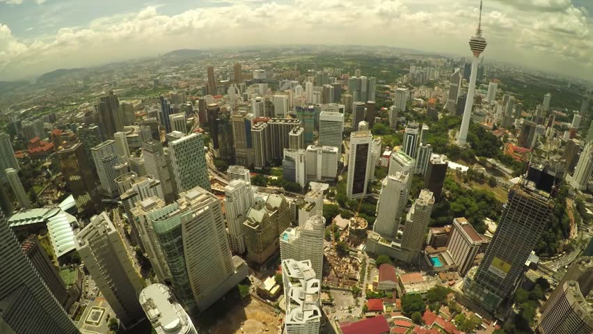 Stock Video Of Kuala Lumpur Aerial Shot