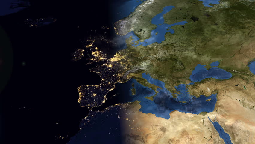 Highly Detailed Timelapse Of European Map Using Satellite Imagery - Europe satellite map