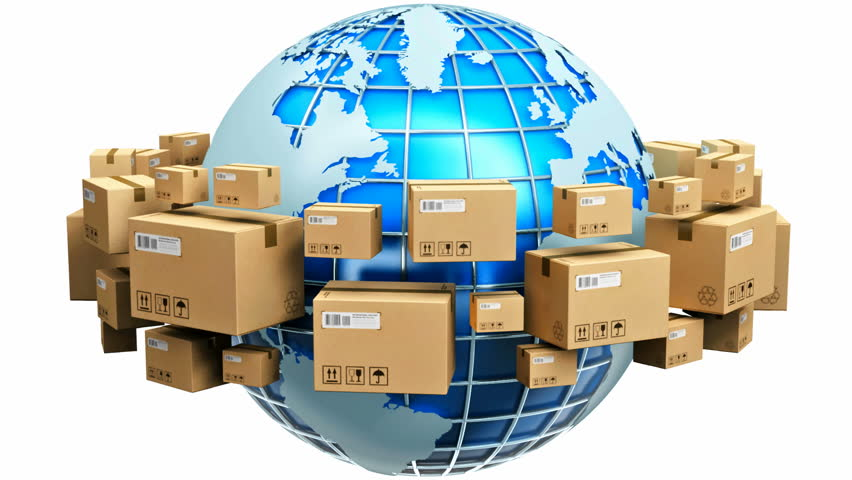 Clip 1638046 Stock Footage Worldwide Shipping Concept Row Of Cardboard Boxes Around Blue Earth Globe Isolated On White on Planet X Wallpaper