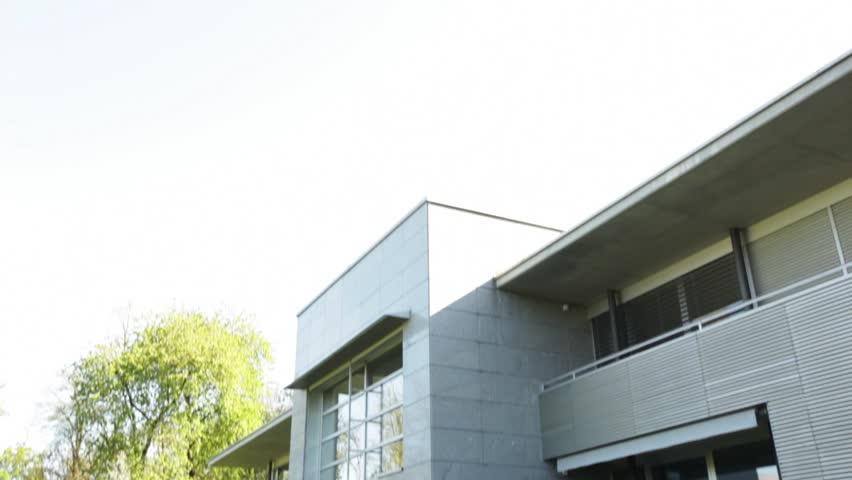 Exterior of modern villa in nature