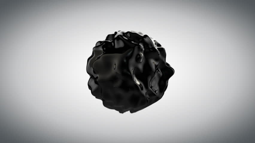 Black abstract liquid sphere, wobbling fluid. Luma matte included | Shutterstock HD Video #9873596