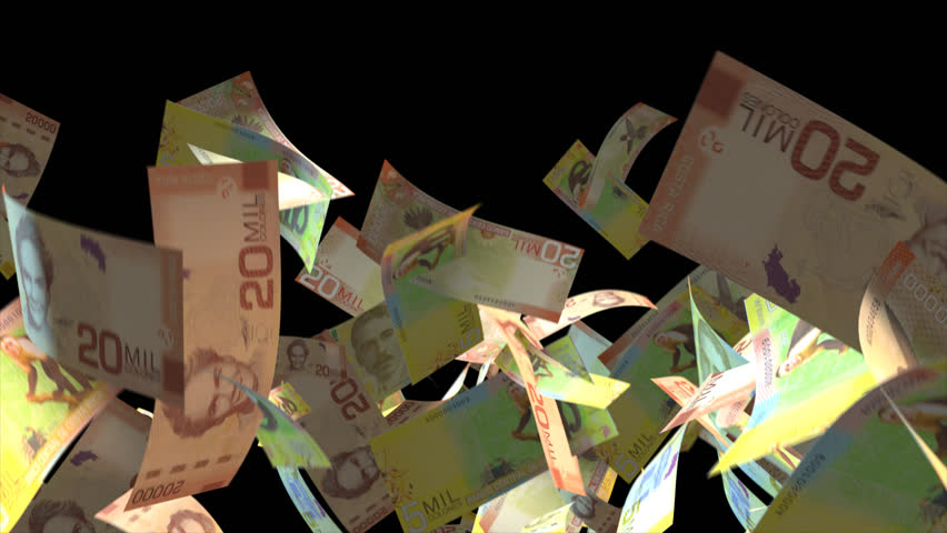 Falling Costa Rica money banknotes  Video Effect simulates Falling Mixed Costa Rica Money banknotes with alpha channel (transparent background) in 4k resolution    Shutterstock HD Video #9922076
