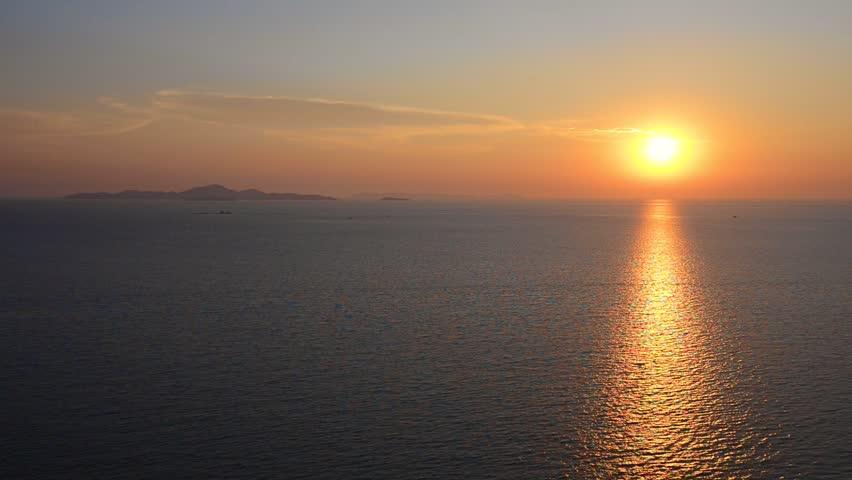 Sunset over sea | Shutterstock HD Video #9970916