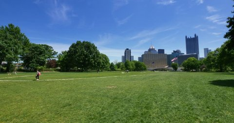 A background plate of Pittsburgh's Point State Park.